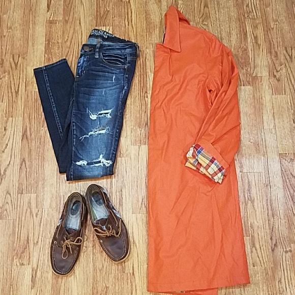 Ralph Lauren Jackets & Blazers - Ralph Ralph Lauren Orange Trench Coat Small